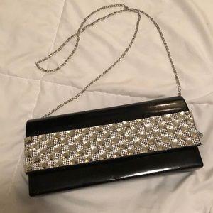Black formal clutch